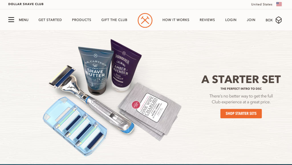 e commerce Dollar Shave Club